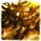 Pulpo a la brasa con aceite de oliva, ajo y perejil.